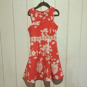 Monteau coral sleeveless dress